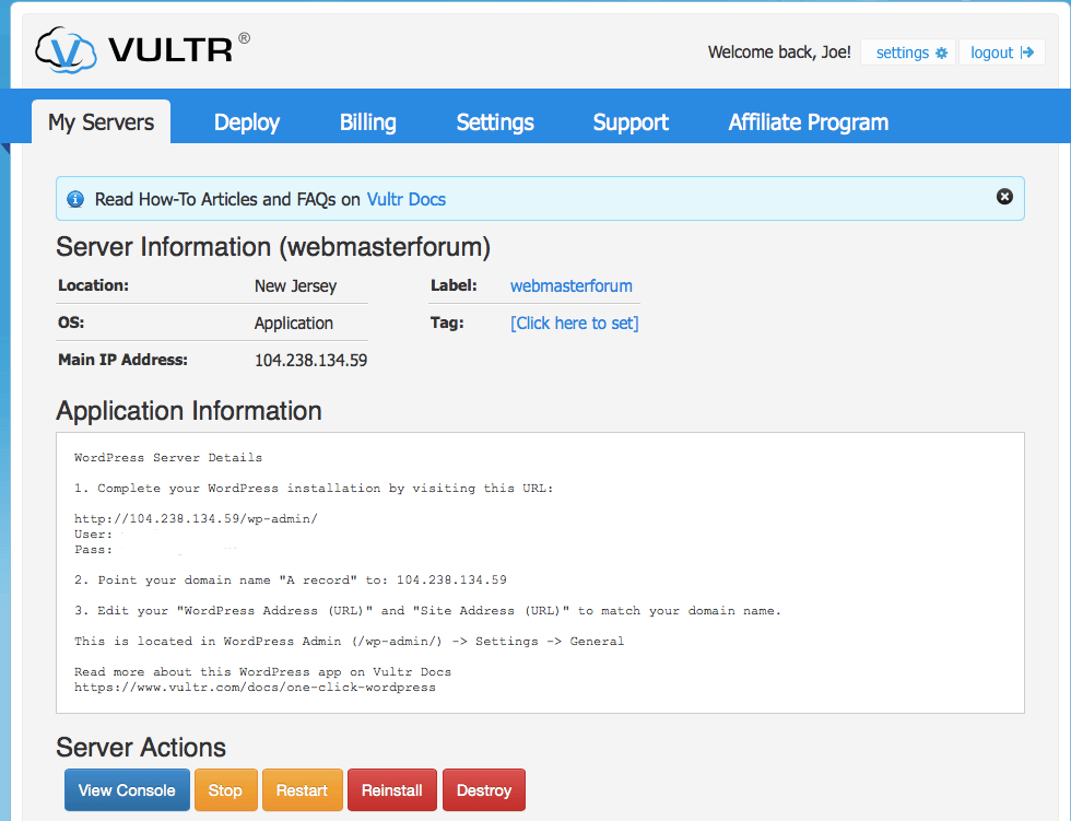 Vultr-Management-Part-1